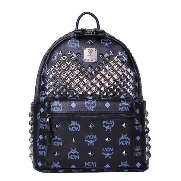 MCM Small Stark Front Studs Backpack MC4237S Black