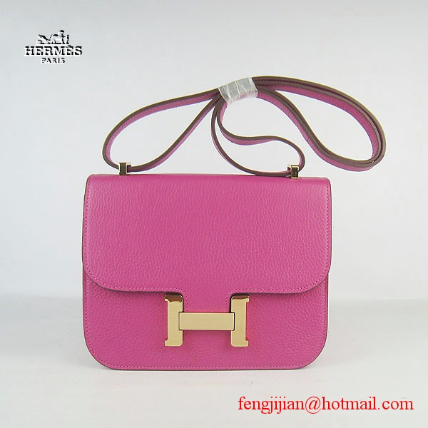 Hermes H017 Peach Leather Gold Hardware