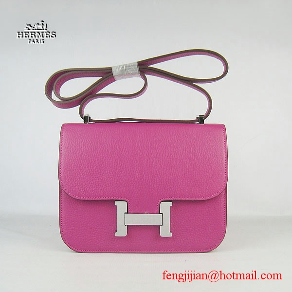 Hermes H017 Peach Leather Silver Hardware