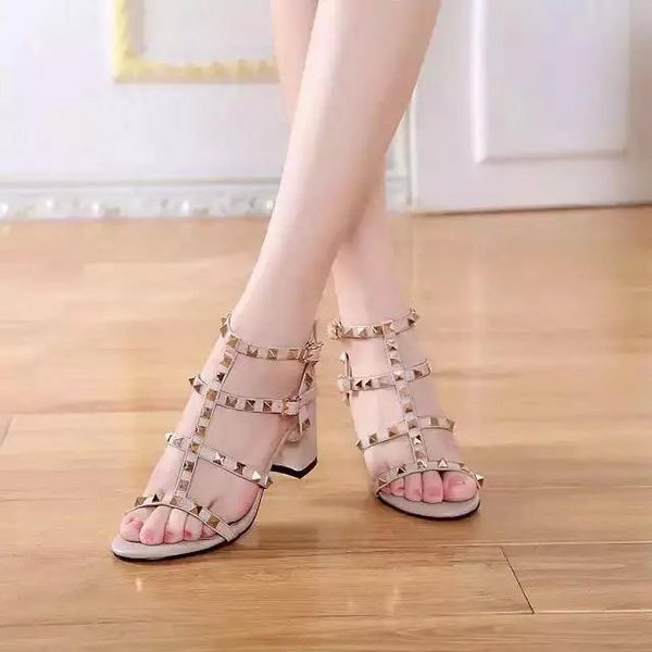 Valentino Sandals Leather VT528 Apricot