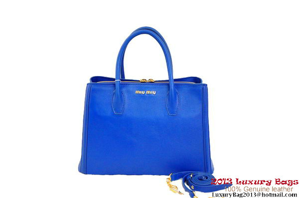 miu miu Two-Tone Tote Bag Original Leather BN0883 RoyalBlue