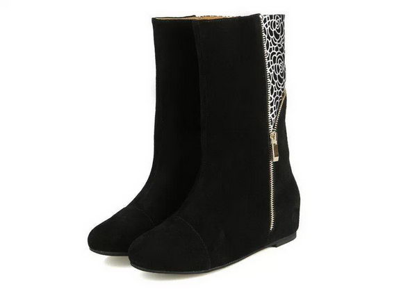 miu miu Suede Leather Ankle Boot MM313 Black