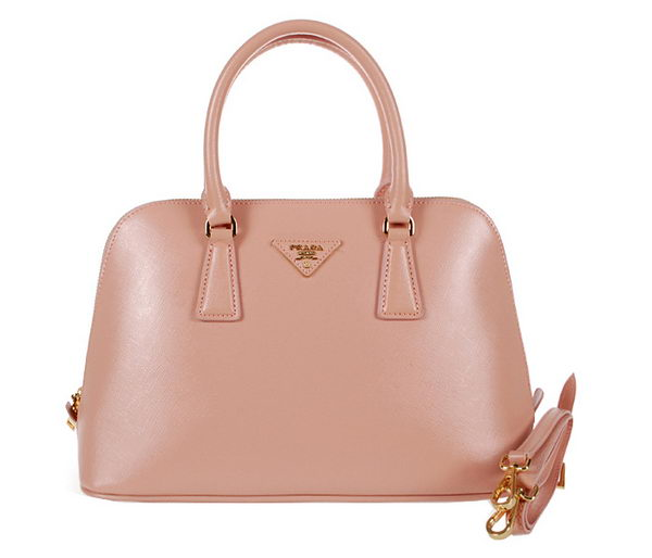 Prada Shiny Saffiano Leather Top Handle Bag BL0837 Light Pink