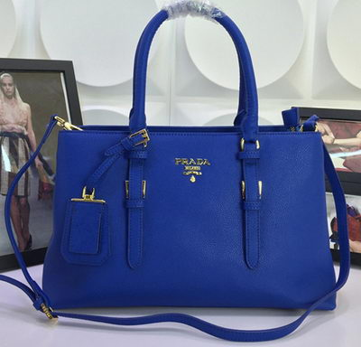 Prada Saffiano Cuir Leather Tote Bag BN3919 Blue