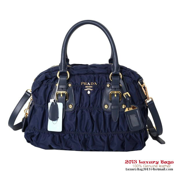 Prada Gaufre Fabric Top Handle Bag BN0800 Blue