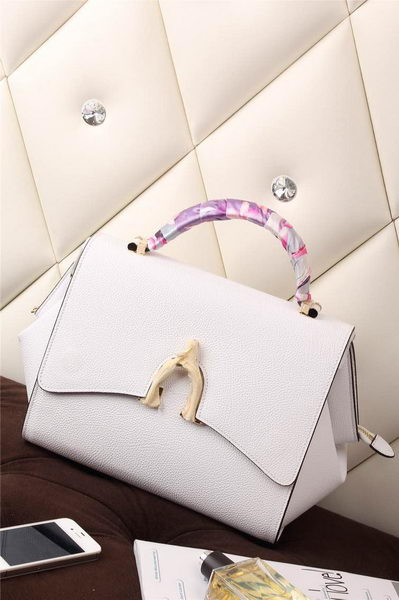 Hermes Stirrup Top Handle Bag H30560 White