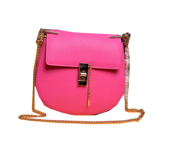 CHLOE Drew Small Grained Leather Shoulder Bag 2480 Rose