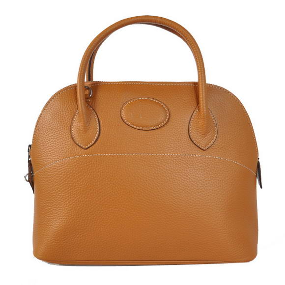 Hermes Bolide 31CM Tote Bags Clemence H1031 Camel
