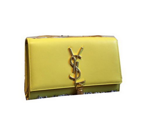 YSL Monogramme Cross-body Shoulder Bag Smooth Leather Y311218 Yellow