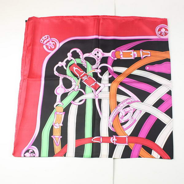 Hermes Scarves Silk Broadcloth WJH079 Red