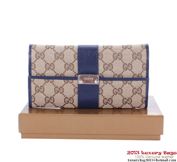Gucci GG Canvas Continental Long Wallet 233013 RoyalBlue