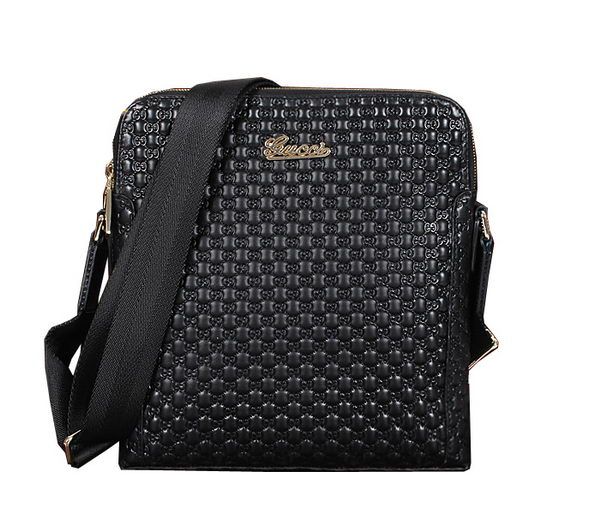 Gucci Guccissima Messenger Bag 300343 Black