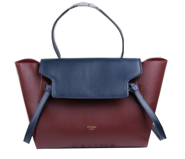 Celine Belt Bag Original Leather C3360 Burgundy&Royal