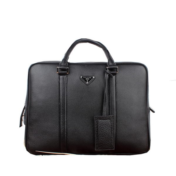 Prada Original Calf Leather Briefcase VA0871 Black