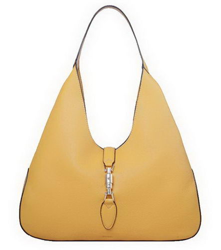 Gucci Jackie Soft Leather Hobo Bags 362968 Yellow
