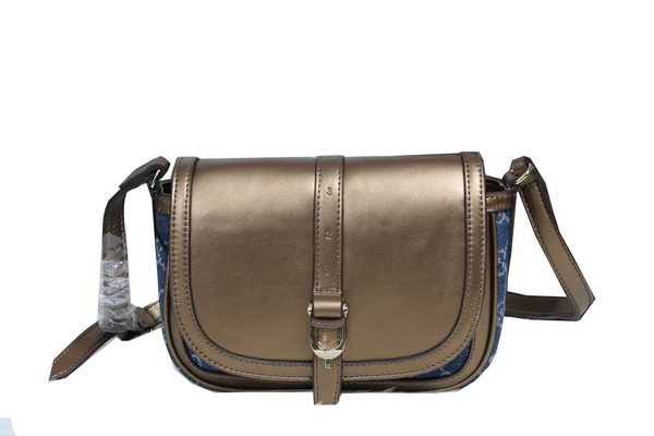 Gucci Nice Calf Leather with Canvas Shoulder Bag 336749 Bronze
