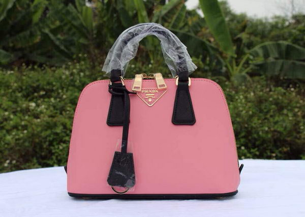 Prada Saffiano Leather Two Handle Bag BL0838P Pink