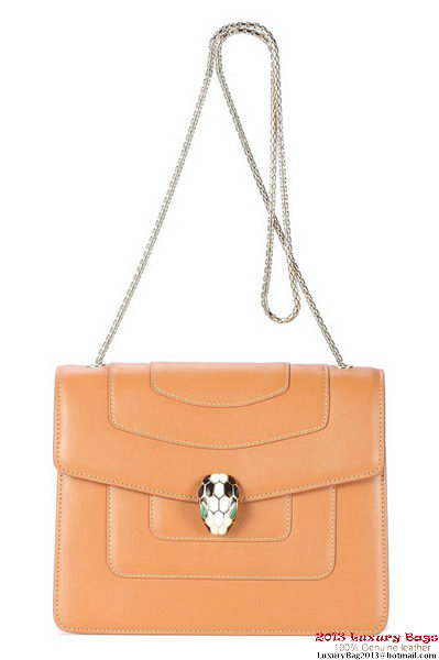 BVLGARI Shoulder Bag Nappa Leather 35042 Tan