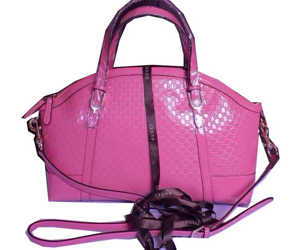 Gucci Nice Patent Microguccissima Top Handle Bag 309614 Pink