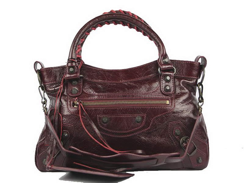 Balenciaga Classic Glycine First Bags 084239S Dark Red
