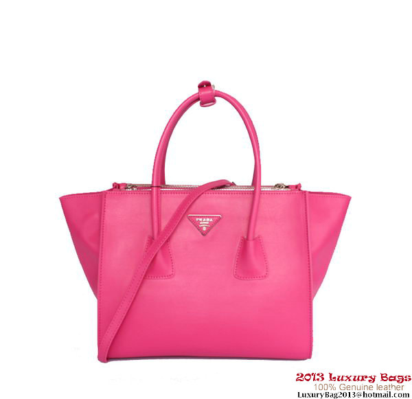 Prada BN2619 Rose Glace Calf Leather Tote Bag
