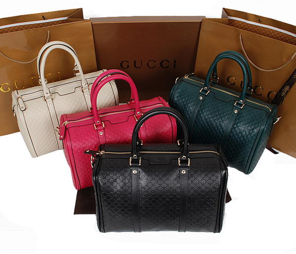 Gucci Mircoguccissima Leather Medium Boston Bag 247205