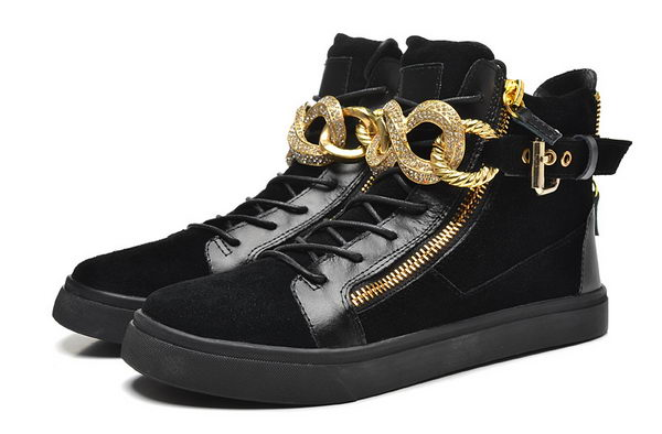 Giuseppe Zanotti Sneakers Suede Leather GZ0370 Black