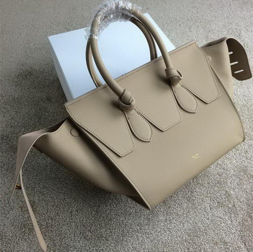 Celine Tie Nano Top Handle Bag Smooth Leather 98313 Beige