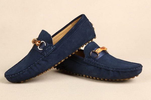 Gucci Suede Leather Casual Shoes GG0396 Blue