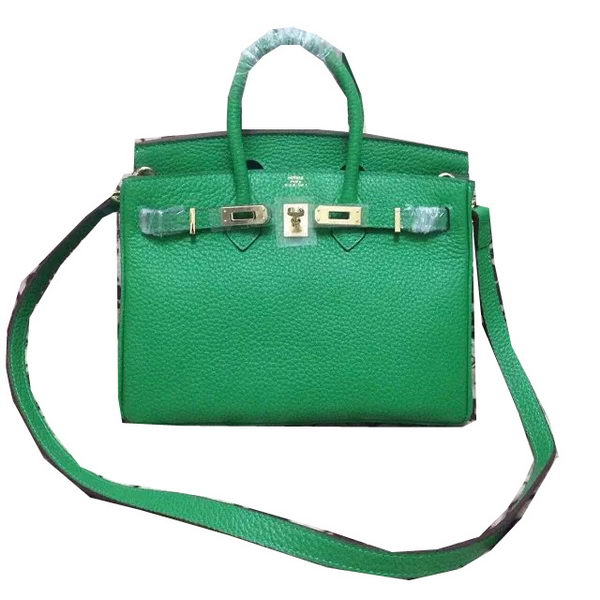 Hermes Birkin 25CM Tote Bag Original Leather H25 Green