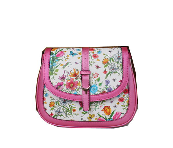 Gucci Nice Flora Leather Shoulder Bag 336749 Rose