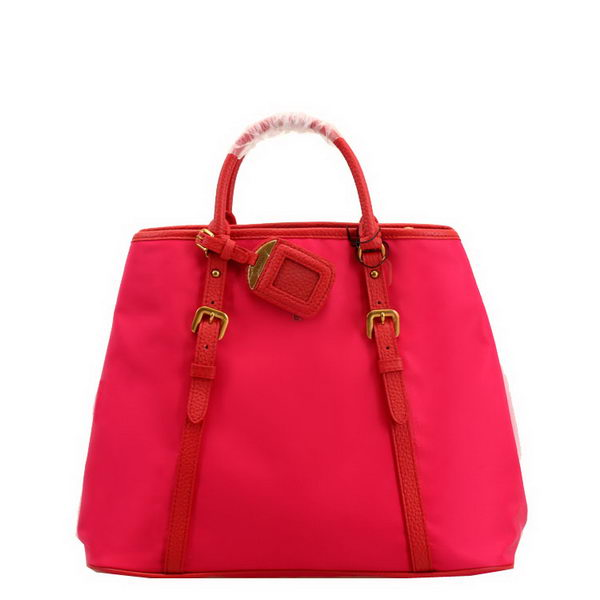 Prada Tessuto Vit Daino Convertible Bag BN1841L Red