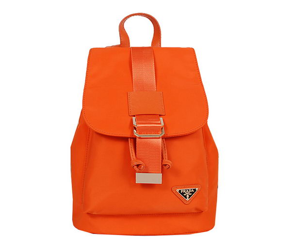 Prada Nylon Drawstring Backpack Bag BZ1562 Orange