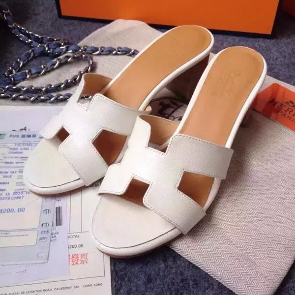 Hermes Sandals Togo Leather HO0471 White