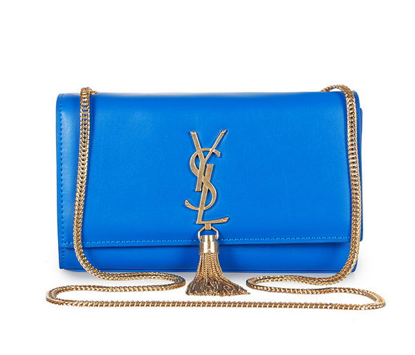 Yves Saint Laurent mini Monogramme Cross-body Shoulder Bag 326076 Blue