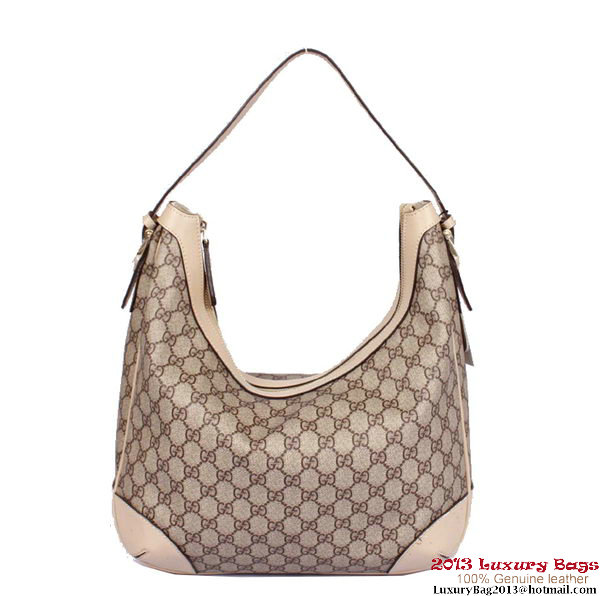 Gucci Nice GG Supreme Canvas Hobo Bag 309618 OffWhite