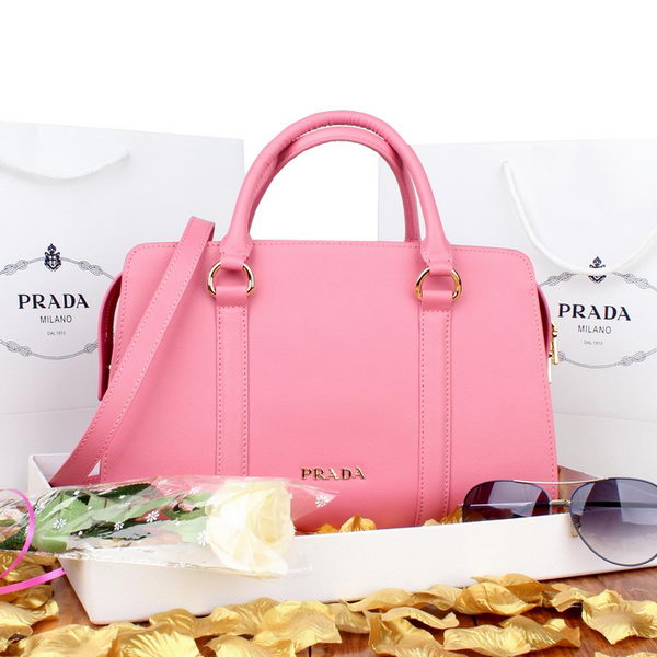 PRADA Saffiano Calf Leather Top Handle Bag BN8091 Pink