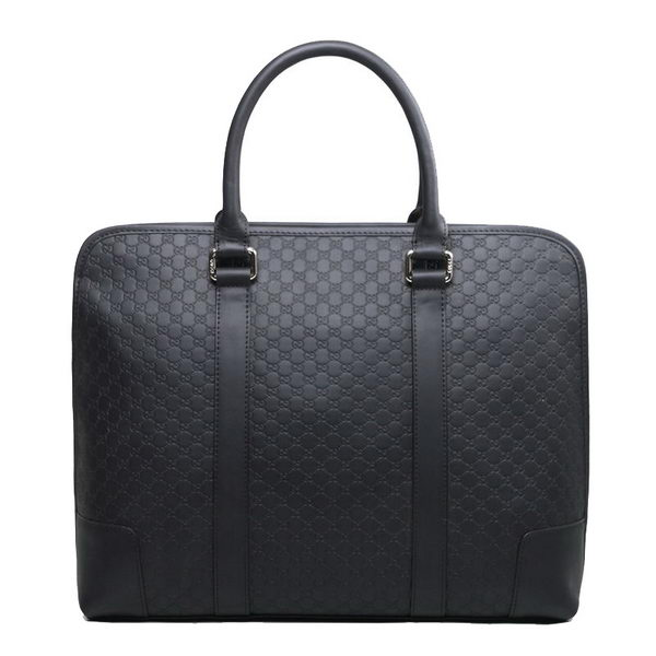 Gucci Guccissima Leather Business Briefcase 322222 Black