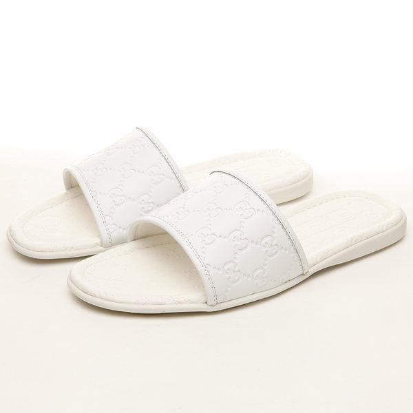 Gucci Guccissima Leather Slipper GG0391 White
