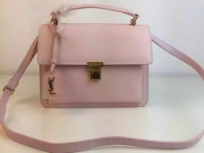 SAINT LAURENT Structured Top Handle Bag YSL5569 Light Pink
