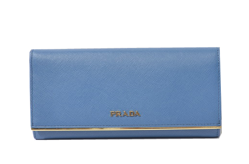 Prada Saffiano Leather Wallet 1M1132_QME Blue