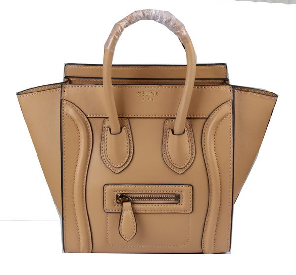 Celine Luggage Nano Bag Original Leather C3308S Apricot