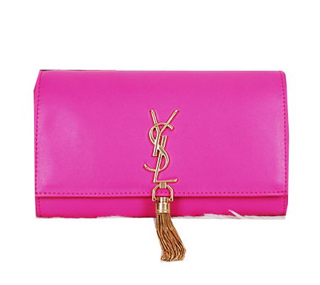Yves Saint Laurent Classic Monogramme Tassel Clutch Bag Y7138 Rose