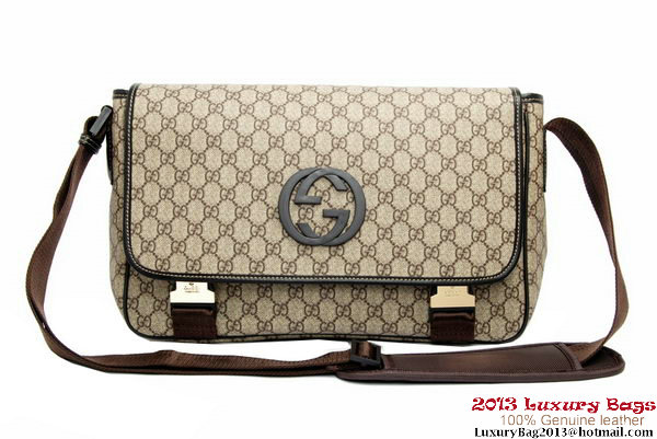 Gucci GG Canvas Messenger Bag 223661 Brown