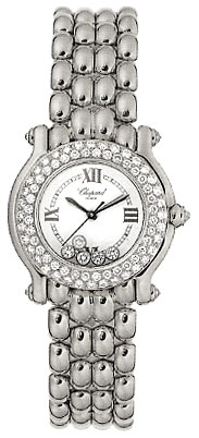 Chopard Happy Sport Series 18kt White Gold Ladies Diamond Watch 276151-20