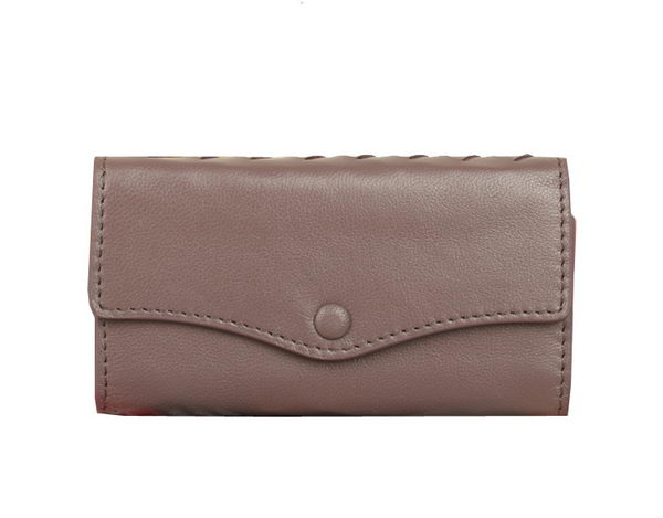 Bottega Veneta Intrecciato Nappa Key Case 5802 Purple