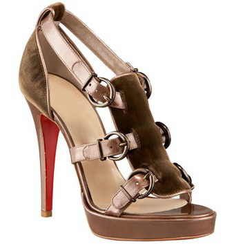 Christian Louboutin Lima 120 sandals in gold