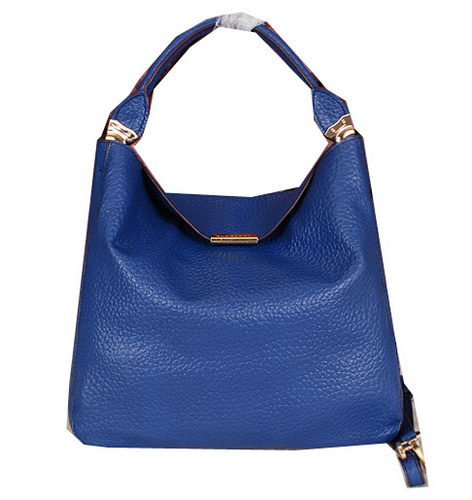 BurBerry Grainy Leather Tote Bag BB7711 Blue
