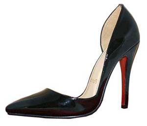 Christian Louboutin Red Sole Shoes Black Leather Patent Pigalle Pumps NIB Shoes