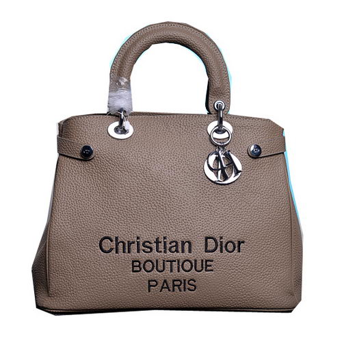 Dior Shish Tote Bag Grainy Calfskin Leather D9691 Apricot